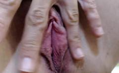 charming milf in bikini loves cum in her mouth in close up
