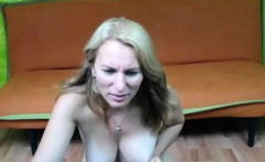 Sophisticated Blonde Camgirl Tease And Masturbate