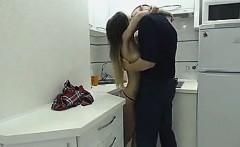 Busty brunette hardcore sex caught on hidden cam