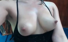 adorable milky tits chick home alone   letting you watch