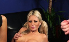 busty british voyeur teases while watching
