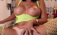 Luxury Amazing-breasted Cammodel Plays With Her Sweet Pussy