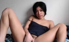 Asian Teen Solo Slippery Oil Pussy Massage Video