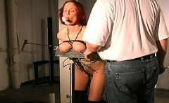 Obedient doxy wants breast thraldom stimulation on cam