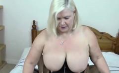 blonde granny takes fat black schlong in bedroom