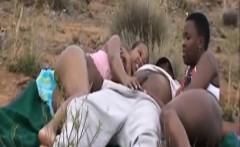 african slaves enjoy pleasing schlongs outdoors