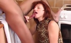 Sexy housewife with latin boy