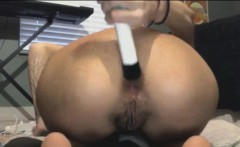 Extreme Beer Bottle Anal And Vaginal Insertion For Skinny In
