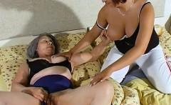 Omahotel Gray Haired Grandma Lesbian Striptease