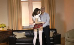 british schoolgirl cocksucks and rides oldman