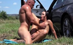 Slutty looking Angelina gets fucked hard