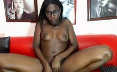 sexy ebony babe aisha spreading and toying nicely