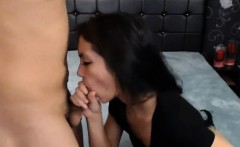 Hot Babe giving amazing blowjob to stepbrother