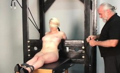 Rough spanking and harsh slavery on woman's pussy