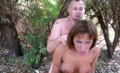 Lusty Redhead Gets Reamed Hard Outdoors