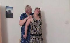 BBW lesbian matures teasing bodies