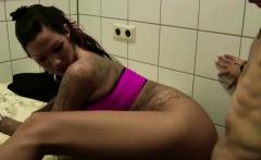 Two German Teens Fuck Stranger On Toilet In Restaurant