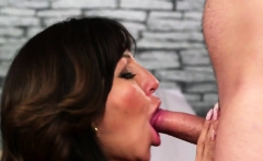 nasty beauty gets cum load on her face sucking all the spunk