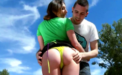Outdoor Ass Fuck With Brunette Whore