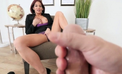 Redhead Busty Mature Stepmom Played With Her Wet Pussy