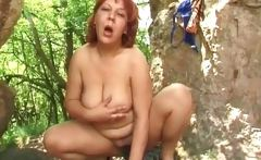 Busty and chubby mature redhead fuck her