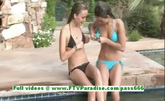 Rilee and Sara independent lesbian babes kissing and