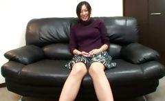 Horny oriental mature is teasing camera