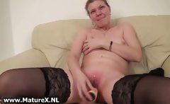 Older housewive is licking big