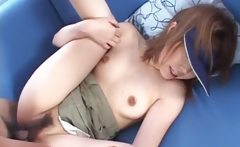 Sporty asian teenie gets snatch drilled upskirt