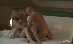 brutally erotic blondes FFM threesome
