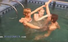 Three polish teenies in the pool