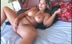 BBW seductress masturbating pussy with vibrator