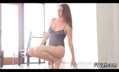 Sensual and flexible american gymnast