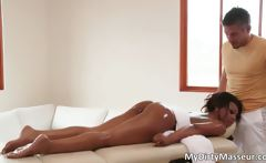 Gorgeous ebony chick Leilani Leeane