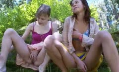 Three russian virgins undressing