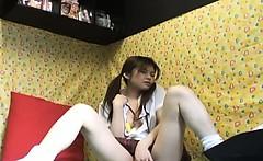 Yuzuru Masturbate Horny Asian Slutty Teen Enjoys Her Toys