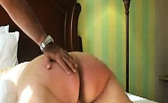 Spanking big Ass of sub milf Christina