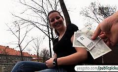 Czech girl Iveta flashes and public fuck