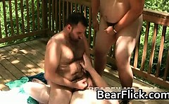 Hardcore gay porn orgy on the porch