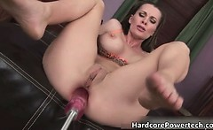 Sexy brunette hoe gets a good fuck