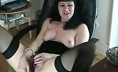 Nasty hot brunette hoe fucks