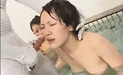 Invisible Guy Jizz on Asian!