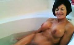 Hot Granny Taking A Bath