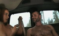 Blowjob for a straight stud in a van