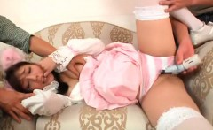 Rei Mizuna maid gets doggy in blowjob