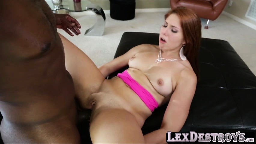 Sexy redhead Rose Red gets destroyed by Lexington Steele