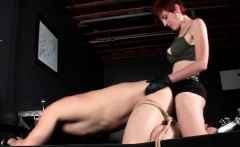 Guy in ropes ass fucked with a BDSM strapon