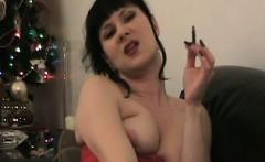 Smoking amateur housewife teasing fetish