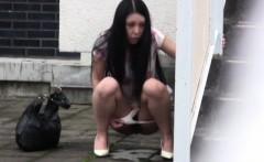 Hot asian whore urinates