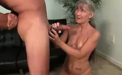 Babe Gets Startled By The Huge Cumshot This Guy Shoots